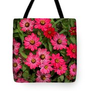 Zinnia Riot Watercolor Tote Bag