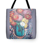 Zinnias In The Sun Tote Bag