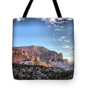 Zion At Sunset #3 Tote Bag