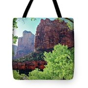 Zion Canyon Red Cliffs Tote Bag