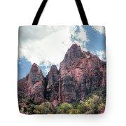 Zion Canyon Terrain Tote Bag