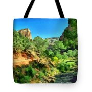Zion In The Morning Tote Bag