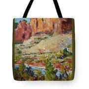 Zion Mountain Cliff Tote Bag