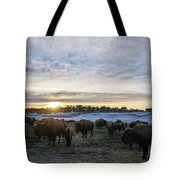 Zion Mountain Ranch Buffalo Herd Tote Bag