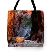 Zion Narrows With Boulder Tote Bag