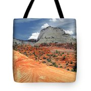 Zion National Park As A Storm Rolls In Tote Bag
