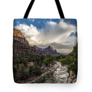 Zion National Park Sunset  Tote Bag