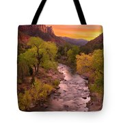 Zion National Park The Watchman Tote Bag