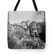 Zion National Park Utah Black White  Tote Bag