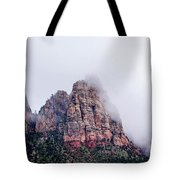 Zion Red Rock And Clouds Tote Bag