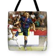 Zlatan Ibrahimovic In Action  Tote Bag