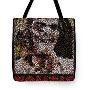 Zombie Bottle Cap Mosaic Tote Bag by Paul Van Scott