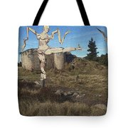 Zombie Near The Ruins Tote Bag