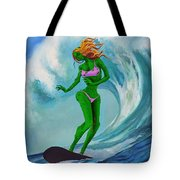 Zombie Surf Goddess Tote Bag