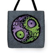 Zombie Yin-yang Tote Bag by John Schwegel