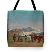 Zommer, Richard 1866-1939 In The Mountains Of Alatau Tote Bag