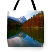 Zugspitz And Riessersee Garmish Germany Tote Bag