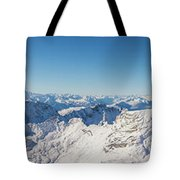 Zugspitze Observatory Panorama Tote Bag