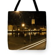 Zurich At Night Tote Bag