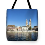 Zurich Cathedral Tote Bag