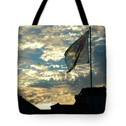 Zurich Griffin Flag At Sunset Tote Bag