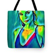 03_young Girl Portrait Tote Bag