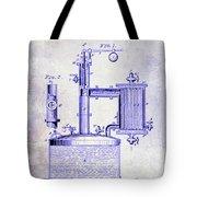 1878 Beer Boiler Patent Blueprint Tote Bag