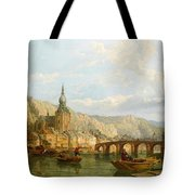A View Of Dinant Tote Bag