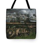 Abandoned Steam Locomotive  Tote Bag