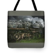 Abandoned Steam Locomotive  Tote Bag