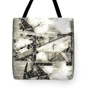 Abstract Triptych Tote Bag by Art Di