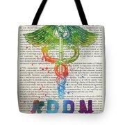Advanced Practice Registered Nurse Gift Idea With Caduceus Illus Tote Bag