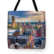 Aerial Panorama Of Albany, New York Tote Bag by Mihai Andritoiu