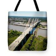 Aerial View Of Talmadge Bridge Tote Bag