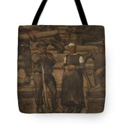 Albin Egger-lienz 1868 - 1926 The Ages Of Life Tote Bag