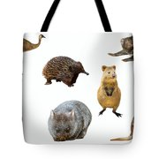 Australian Animals Isolated Tote Bag by Benny Marty