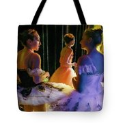 Ballerina Discussions Tote Bag