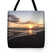 Beach Sunset, Blackpool, Uk 09/2017 Tote Bag