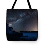 Beautiful Night Sky Astrophotography Landscape Image Of Milky Wa Tote Bag