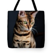 Bengal Cat Portrait Tote Bag