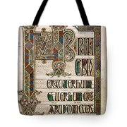 Book Of Lindisfarne Tote Bag