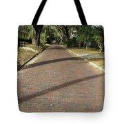 Brick Road In Palatka Florida Tote Bag