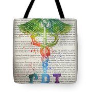Certified Personal Trainer Gift Idea With Caduceus Illustration  Tote Bag
