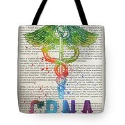 Certified Registered Nurse Anesthetist Gift Idea With Caduceus I Tote Bag