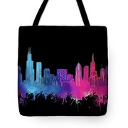 Chicago Skyline Watercolor 3 Tote Bag