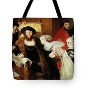 Christian II Signing The Death Warrant Of Torben Oxe  Tote Bag