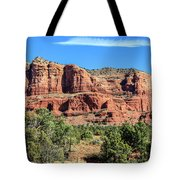 Courthouse Rock, Sedona Tote Bag by Dawn Richards