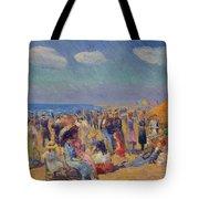 Crowd At The Seashore Tote Bag
