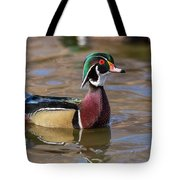 Curious Wood Duck Tote Bag
