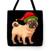 a077296cba46d Cute Pug In A Christmas Elf Hat Digital Art by Louise Lench